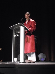 Chuck Palahniuk's reading included beach balls, glow sticks, and stories. Definitely a night to remember.
