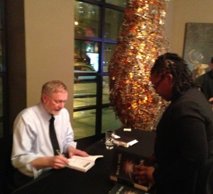 The fabulous Erik Larson signs books after reading at SCADShow.