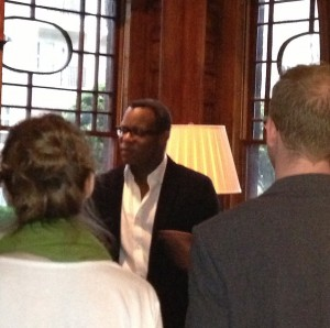 Academy Award Winner Geoffrey Fletcher chatted with students at Ivy Hall. He also guest lectured in several classes.